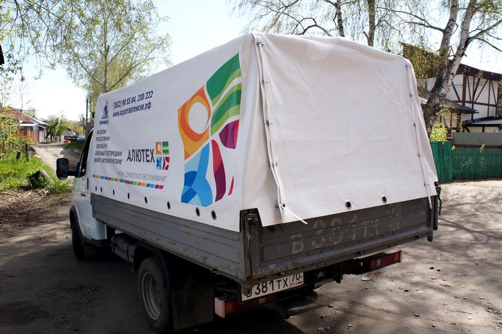 Печать на тентах грузовиков в Томске
